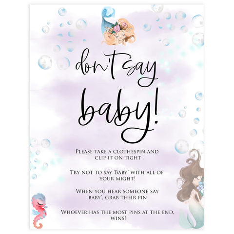 dont say baby game, Printable baby shower games, little mermaid baby games, baby shower games, fun baby shower ideas, top baby shower ideas, little mermaid baby shower, baby shower games, pink hearts baby shower ideas