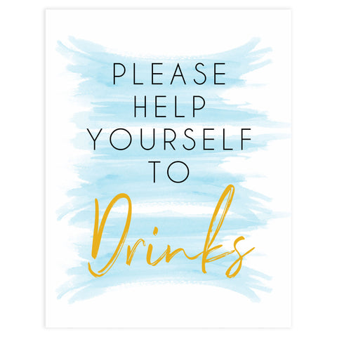 blue watercolor baby signs, drinks baby signs, drinks baby decor, printable baby signs, fun baby games, baby shower ideas
