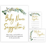 Eucalyptus baby shower games, baby name suggestions baby game, fun baby shower games, printable baby games, baby shower ideas, baby games, baby shower baby shower bundle, baby shower games packs, botanical baby shower