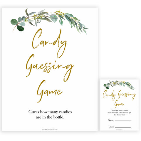 Eucalyptus baby shower games, candy guessing game baby game, fun baby shower games, printable baby games, baby shower ideas, baby games, baby shower baby shower bundle, baby shower games packs, botanical baby shower