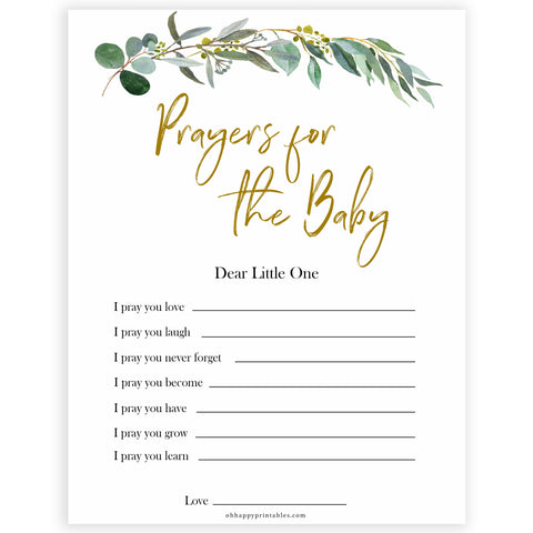Eucalyptus baby shower games, prayers for baby game baby game, fun baby shower games, printable baby games, baby shower ideas, baby games, baby shower baby shower bundle, baby shower games packs, botanical baby shower
