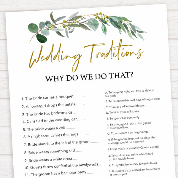 Floral bridal games, wedding traditions game, top bridal shower games, fun bridal games, hen party games, printable bridal games, bridal shower ideas, eucalyptus bridal ideas
