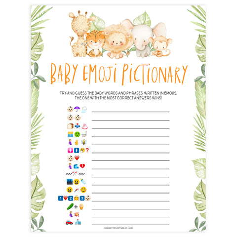 baby emoji pictionary game, Printable baby shower games, safari animals baby games, baby shower games, fun baby shower ideas, top baby shower ideas, safari animals baby shower, baby shower games, fun baby shower ideas