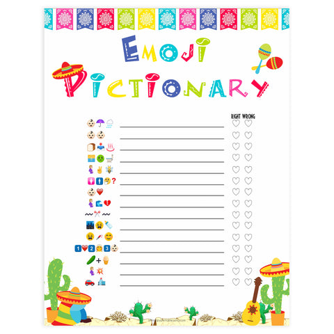 baby shower emoji pictionary game, Printable baby shower games, Mexican fiesta fun baby games, baby shower games, fun baby shower ideas, top baby shower ideas, fiesta shower baby shower, fiesta baby shower ideas