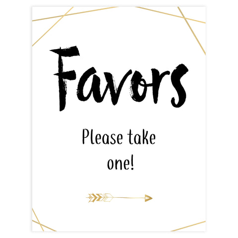 favors bridal shower sign, printable bridal shower table signs, bride tribe bridal shower decor, favours sign