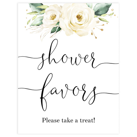 favors baby shower table sign, White floral baby decor, printable baby table signs, printable baby decor, baby safari animals table signs, fun baby signs, baby safari animals fun baby table signs
