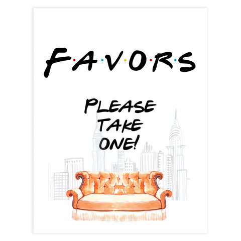 favors table sign, favors table decor, Printable bridal shower signs, friends bridal shower decor, friends bridal shower decor ideas, fun bridal shower decor, bridal shower game ideas, friends bridal shower ideas