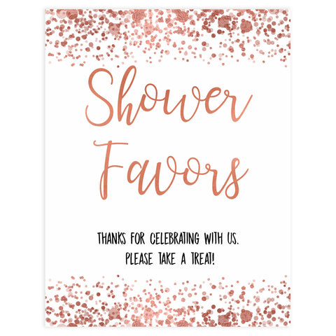 baby favors table sign, baby favors signs, Rose gold baby decor, printable baby table signs, printable baby decor, rose gold table signs, fun baby signs, rose gold fun baby table signs