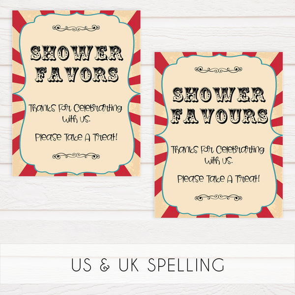 8 baby shower table signs, carnival baby decor, Circus baby decor, printable baby table signs, printable baby decor, carnival table signs, fun baby signs, circus fun baby table signs