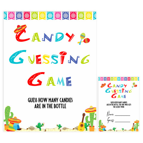 candy guessing game, Printable baby shower games, Mexican fiesta fun baby games, baby shower games, fun baby shower ideas, top baby shower ideas, fiesta shower baby shower, fiesta baby shower ideas