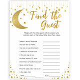 Twinkle Little Star Find The Guest Baby Shower Game, Find the Guest, Ice Breaker Game, Baby Shower Games, Baby Shower, Find the Guest, popular baby games, fun baby shower games