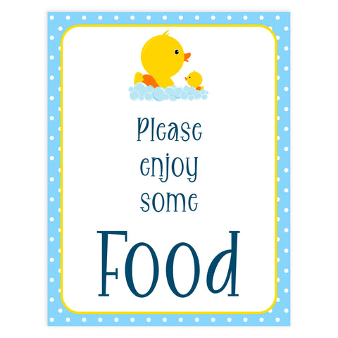 rubber ducky baby signs, food baby signs, printable baby signs, baby decor, fun baby decor, rubber ducky