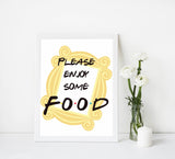 food baby table signs, food baby signs, Friends baby decor, printable baby table signs, printable baby decor, friends table signs, fun baby signs, friends fun baby table signs
