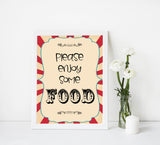 food baby signs, food table signs decor, Circus baby decor, printable baby table signs, printable baby decor, carnival table signs, fun baby signs, circus fun baby table signs
