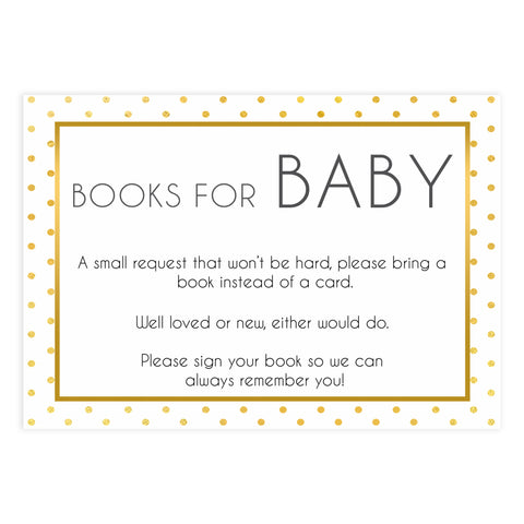 bring a book, books or baby insert, Printable baby shower games, baby gold dots fun baby games, baby shower games, fun baby shower ideas, top baby shower ideas, gold glitter shower baby shower, friends baby shower ideas