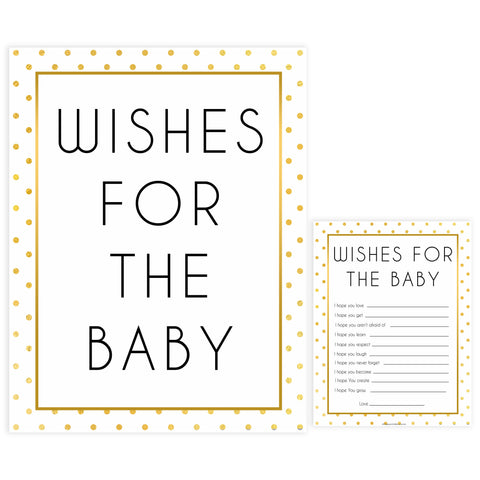 wishes for the baby, baby wishes game, Printable baby shower games, baby gold dots fun baby games, baby shower games, fun baby shower ideas, top baby shower ideas, gold glitter shower baby shower, friends baby shower ideas