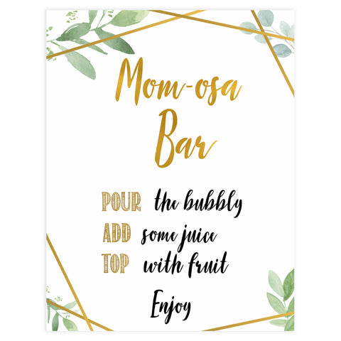 momosa baby table signs, momosa baby signs, Gold geometric baby decor, printable baby table signs, printable baby decor, gold table signs, fun baby signs, geometric fun baby table signs
