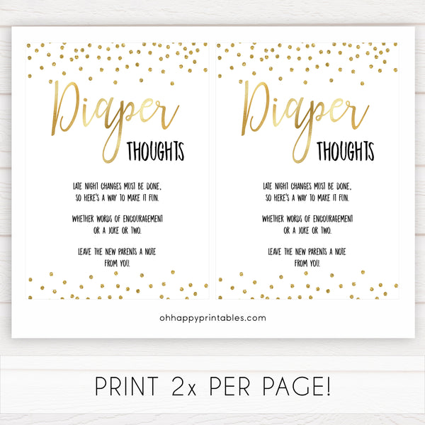 gold baby shower games, diaper thoughts games, printable baby games, fun baby games, popular baby games, baby shower games, gold baby games, print baby games, gold baby shower