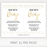 gold baby shower games, message from bump games, printable baby games, fun baby games, popular baby games, baby shower games, gold baby games, print baby games, gold baby shower
