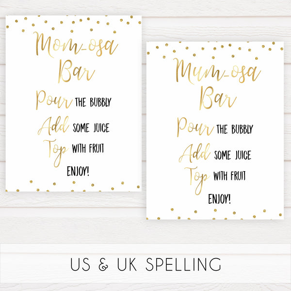 gold glitter baby signs, printable baby signs, glitter baby decor, fun baby signs, baby drinks signs, food baby signs, baby decor