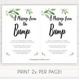 botanical message from bump baby shower sign, printable baby shower games, fun baby shower games