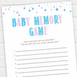 Gender reveal baby games, baby memory game baby game, gender reveal shower, fun baby games, gender reveal ideas, popular baby games, best baby games, printable baby games, gender reveal baby games