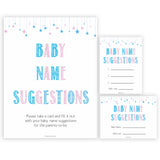 Gender reveal baby games, baby name suggestions baby game, gender reveal shower, fun baby games, gender reveal ideas, popular baby games, best baby games, printable baby games, gender reveal baby games