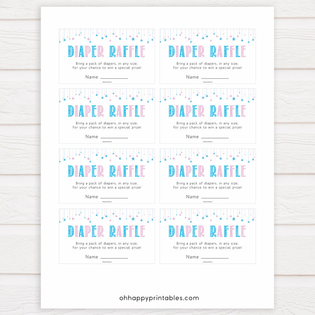 It is an image of Free Printable Baby Shower Diaper Raffle Tickets within purple