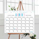 guess the baby birthday game, baby birthday predictions game, printable baby shower games, gender reveal baby shower games, baby reveal ideas