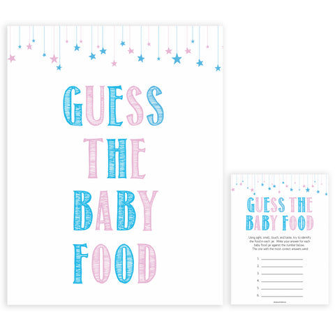 Gender reveal baby games, guess the baby food baby game, gender reveal shower, fun baby games, gender reveal ideas, popular baby games, best baby games, printable baby games, gender reveal baby games