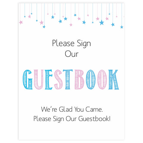 Gender reveal baby signs, guestbook baby signs, baby shower signs, baby shower decor, gender reveal ideas, top baby shower ideas, printable baby signs