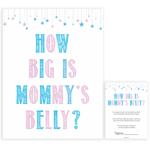 Gender reveal baby games, how big is mommys belly baby game, gender reveal shower, fun baby games, gender reveal ideas, popular baby games, best baby games, printable baby games, gender reveal baby games