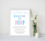 Gender reveal baby games, message from the bump baby game, gender reveal shower, fun baby games, gender reveal ideas, popular baby games, best baby games, printable baby games, gender reveal baby games