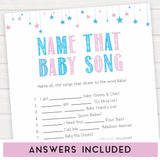 Gender reveal baby games, name that baby song baby game, gender reveal shower, fun baby games, gender reveal ideas, popular baby games, best baby games, printable baby games, gender reveal baby games