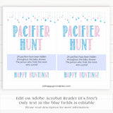 Gender reveal baby games, pacifier hunt baby game, gender reveal shower, fun baby games, gender reveal ideas, popular baby games, best baby games, printable baby games, gender reveal baby games