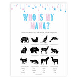 Gender reveal baby games, who is my mama baby game, gender reveal shower, fun baby games, gender reveal ideas, popular baby games, best baby games, printable baby games, gender reveal baby games