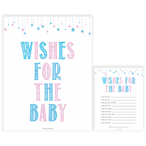 Gender reveal baby games, wishes for the baby baby game, gender reveal shower, fun baby games, gender reveal ideas, popular baby games, best baby games, printable baby games, gender reveal baby games