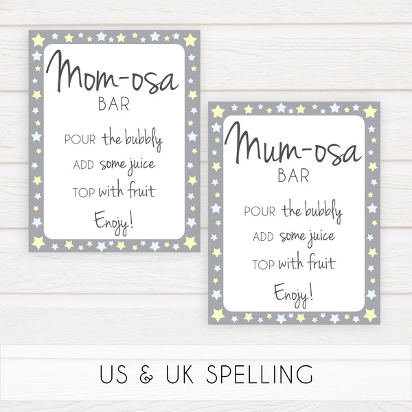 grey and yellow stars baby signs, printable baby signs pack, stars baby shower, printable baby decor, fun baby signs, printable baby decor