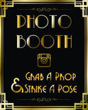 Gatsby Photo booth strike a pose props