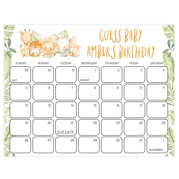guess the baby birthday game, Printable baby shower games, safari animals baby games, baby shower games, fun baby shower ideas, top baby shower ideas, safari animals baby shower, baby shower games, fun baby shower ideas