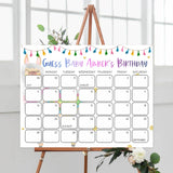 guess the baby birthday game, baby birthday predictions, Printable baby shower games, llama fiesta fun baby games, baby shower games, fun baby shower ideas, top baby shower ideas, Llama fiesta shower baby shower, fiesta baby shower ideas