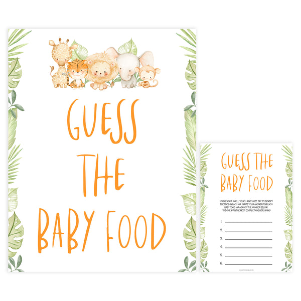 guess the baby food game, Printable baby shower games, safari animals baby games, baby shower games, fun baby shower ideas, top baby shower ideas, safari animals baby shower, baby shower games, fun baby shower ideas