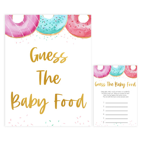 guess the baby food game, Printable baby shower games, donut baby games, baby shower games, fun baby shower ideas, top baby shower ideas, donut sprinkles baby shower, baby shower games, fun donut baby shower ideas