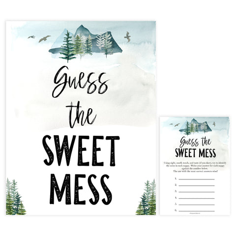 guess the sweet mess baby game, Printable baby shower games, adventure awaits baby games, baby shower games, fun baby shower ideas, top baby shower ideas, adventure awaits baby shower, baby shower games, fun adventure baby shower ideas