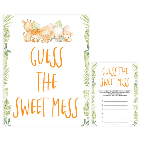 guess the sweet mess game, Printable baby shower games, safari animals baby games, baby shower games, fun baby shower ideas, top baby shower ideas, safari animals baby shower, baby shower games, fun baby shower ideas