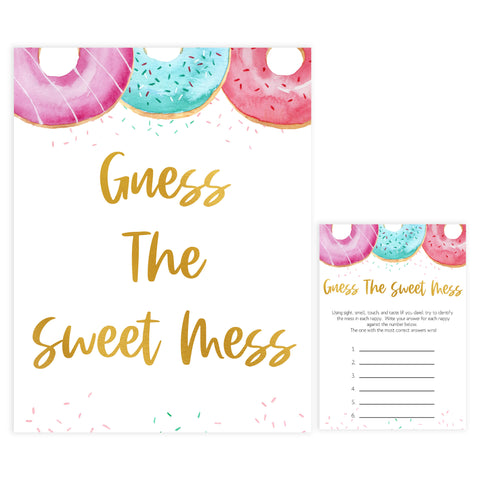 guess the sweet mess game, Printable baby shower games, donut baby games, baby shower games, fun baby shower ideas, top baby shower ideas, donut sprinkles baby shower, baby shower games, fun donut baby shower ideas
