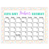 guess the baby birthday game, baby birthday predictions games, printable baby shower games, fun baby shower ideas, baby sprinkle game ideas