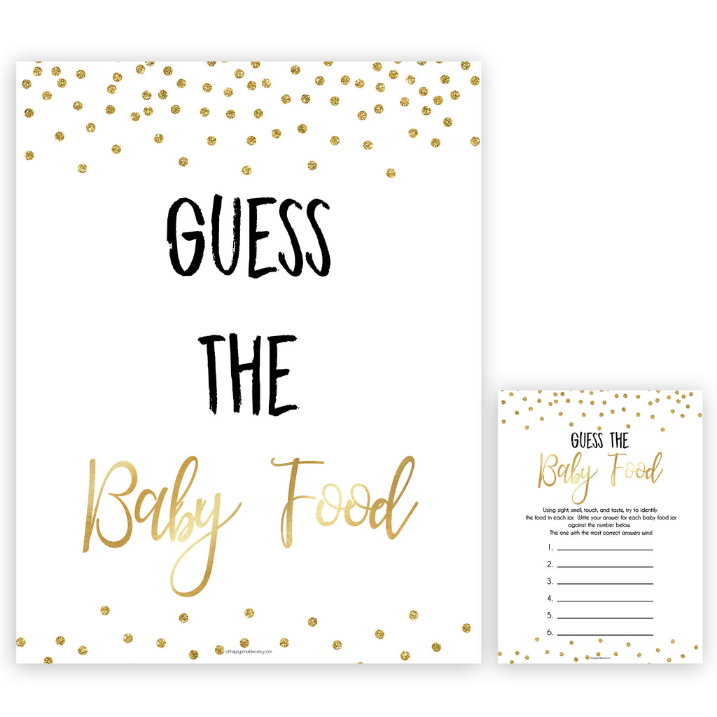 graphic relating to Guess the Baby Food Game Printable known as Wager The Youngster Foodstuff Recreation - Gold Glitter Printable Child