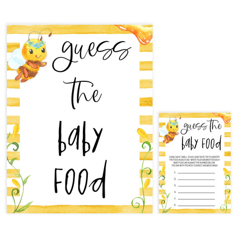 guess the baby food game, guess the baby food, Printable baby shower games, mommy bee fun baby games, baby shower games, fun baby shower ideas, top baby shower ideas, mommy to bee baby shower, friends baby shower ideas