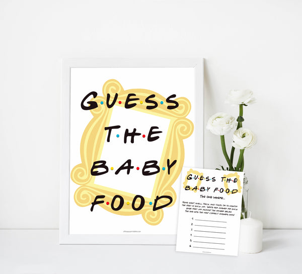guess the baby food game, Printable baby shower games, friends fun baby games, baby shower games, fun baby shower ideas, top baby shower ideas, friends baby shower, friends baby shower ideas